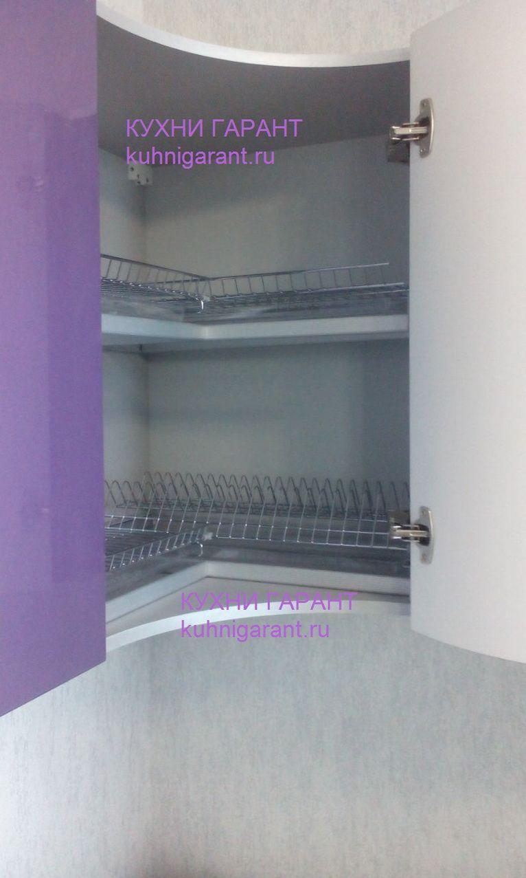 Сушилка в угловом шкафу кухни фото